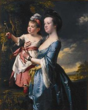 Joseph Wright Of Derby : Portrait of Sarah Carver and her daughter Sarah
